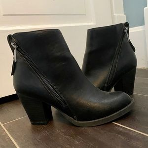 Charlotte Russe Black Faux Leather Booties
